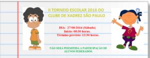 II torneio escolar 2016